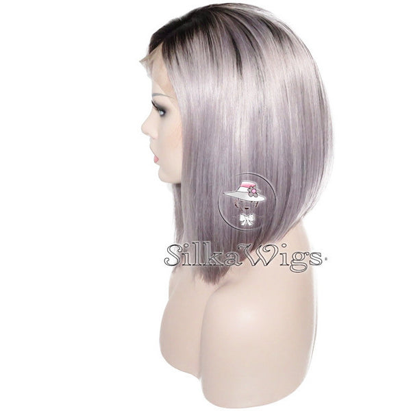 grey ombre wig human hair