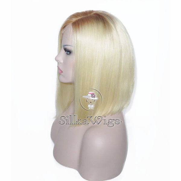blonde ombre bob human hair Lace wig