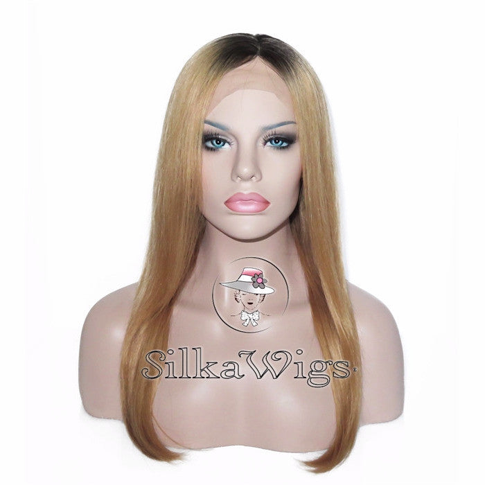 Long Hair ombre 100% Brazilian Virgin Human Hair  Full Lace Wig