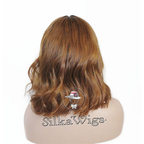 Blonde Dark Root Ombre Bob Cut Full Lace Wig 100% Human Hair