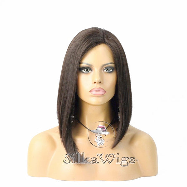 Bob Style Wigs with Side Parting 100% Brazilian Human Hair  Full Lace Wig