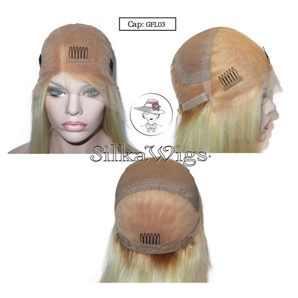 Glueless Full lace wig cap with adjustable strap