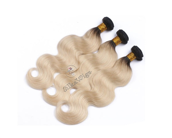 Balayage Blonde Ombre 100% Virgin Human Hair Extensions