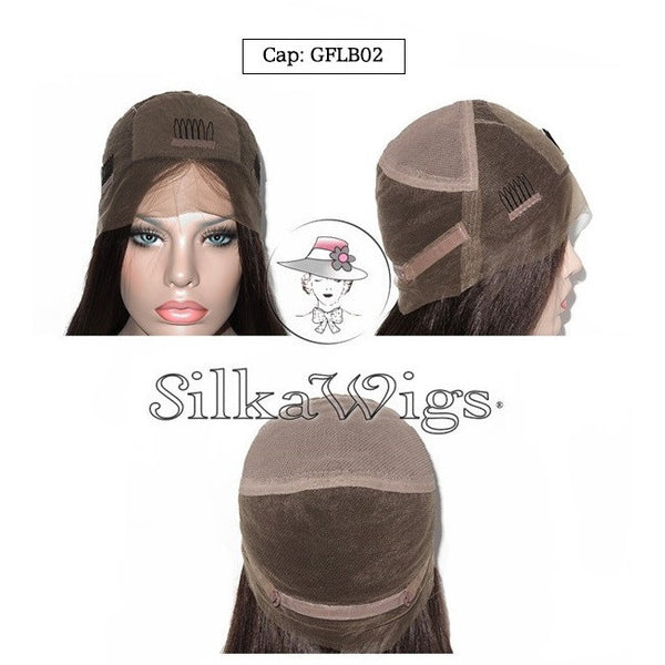 100% European human hair,  silk top base wig cap
