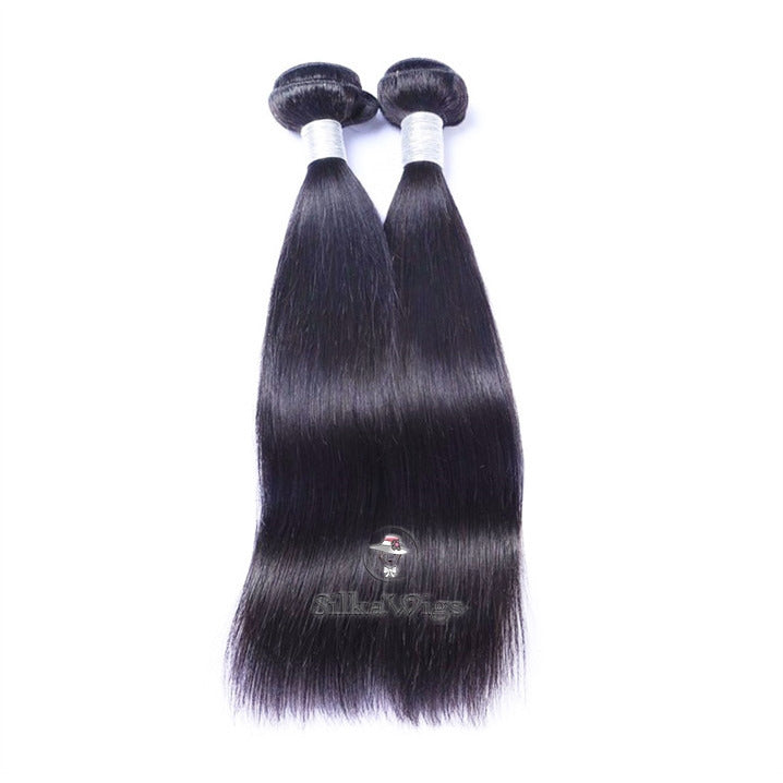 Silky Straight 100% unprocessed Brazilian Virgin  Human Hair Weave