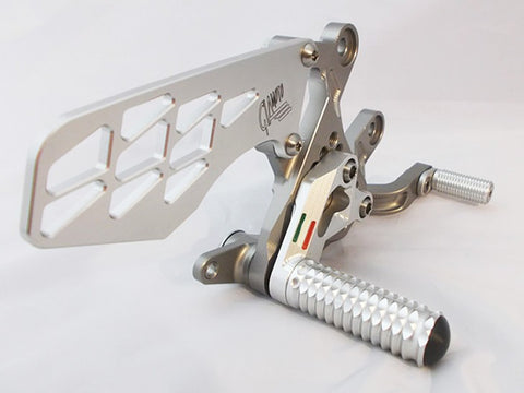 2014 BMW S1000R Akra (No Exhaust Bracket) Rearset Kit by GiaMoto USA