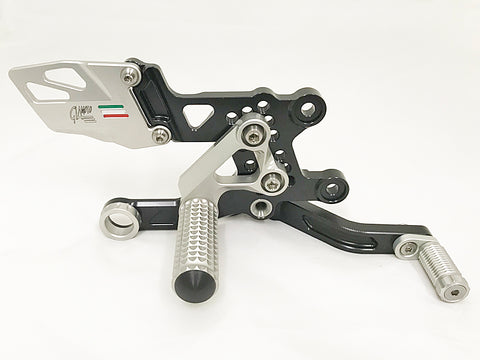 Aprilia RSV4 Rearset Kit - Available in Silver or Silver/Black Finish