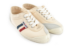Tivoli Creme with Navy + Red Stripes