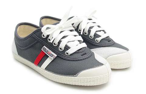 Tivoli Grey with White + Red Stripes