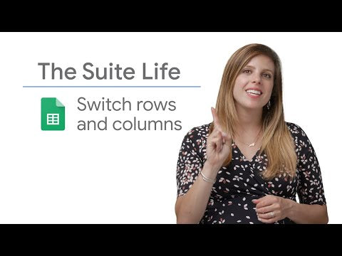 Switch Rows and Columns - The Suite Life