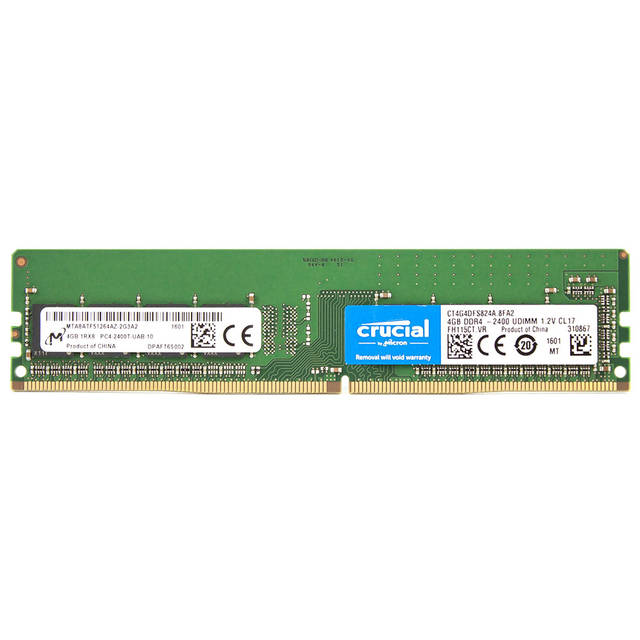 Crucial Memory 4 GB DDR4-2400 / CL17 512Mx64
