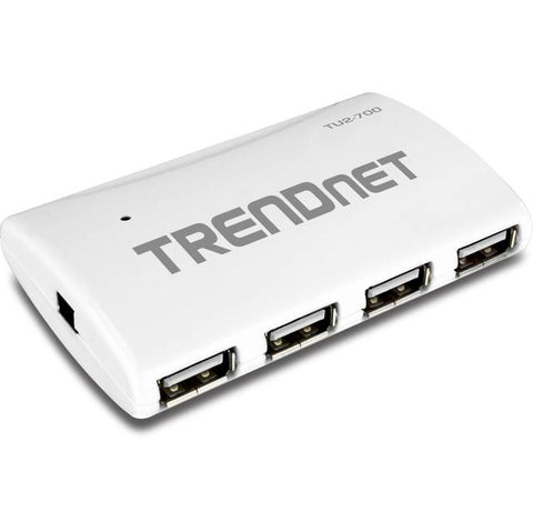 TRENDnet 7-Port Hub USB 2.0 w / adaptador de corriente