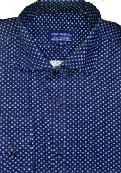 Navy print 100%cotton men shirt - CiaoMarco