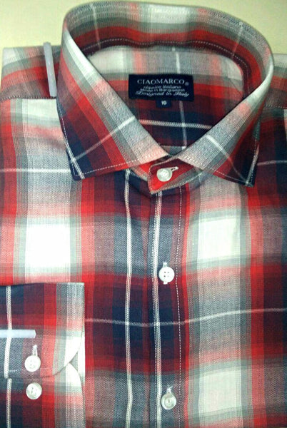 Red and grey plaid shirt