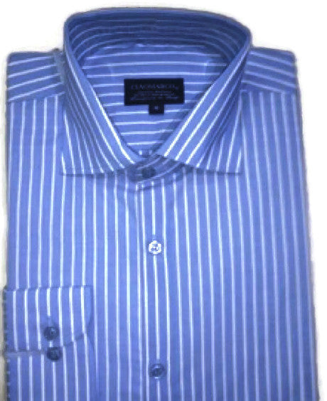 Sky blue pinstripe 100% imported cotton shirt