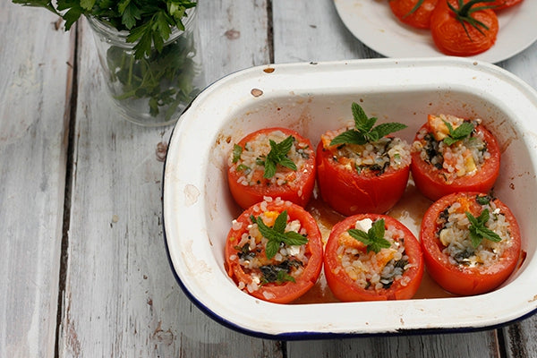 Greek Stuffed Tomatoes - Gemista