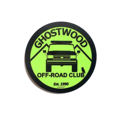 "Ghostwood Off-Road Club 4"" Decal - NOW IN STOCK!"