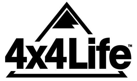 4x4 Life Mountain Logo - Transfer Decal (White or Black)