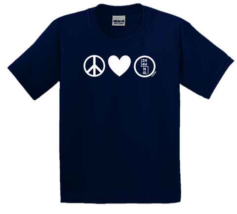 Peace. Love. 4-Wheel Drive®. Navy Unisex Tee.  Includes Free Decal! Kids Sizes Too!