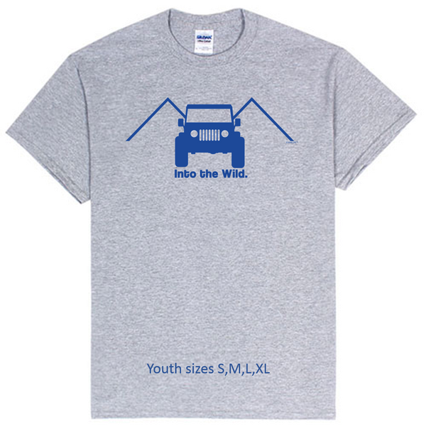 Kids  Into the Wild 4x4 Jeep Enthusiasts Tee!