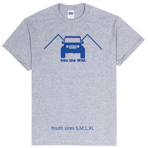 Kids  Into the Wild 4x4 Jeep Tee!