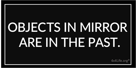 Objects in Mirror Decals - Black/White or Clear