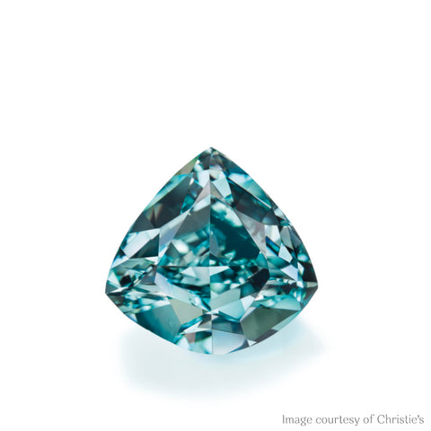 Ocean Dream Diamond, 5.50 carats, fancy vivid blue green diamond