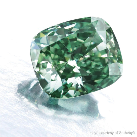 Fancy vivid green diamond
