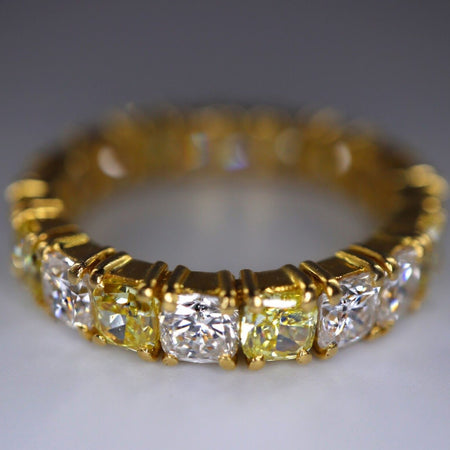 Yellow and White Diamond Eternity Ring