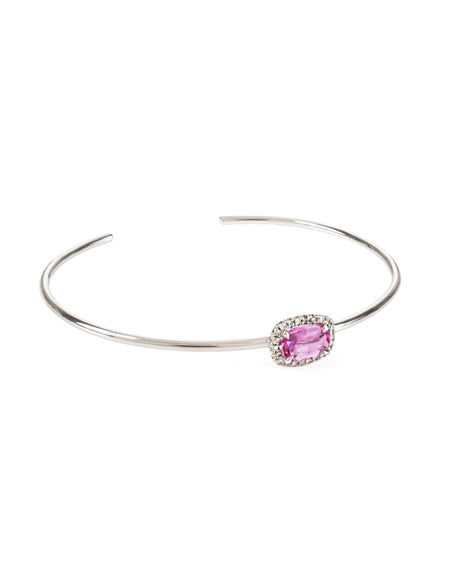Pink Sapphire Cuff with Diamonds