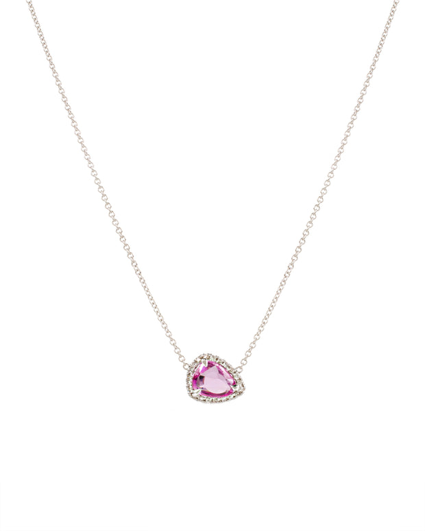 Pink Sapphire Necklace with Diamonds