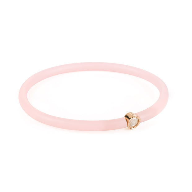 Diamond Band Bracelet - Rose Gold