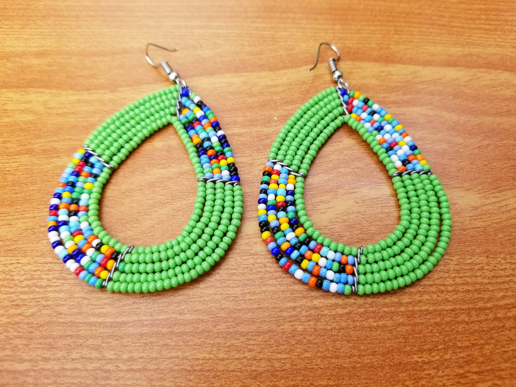 black handmade hoops products jewellery maasai african beaded earrings bjou o
