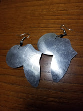 Aluminum African Continent Earrings