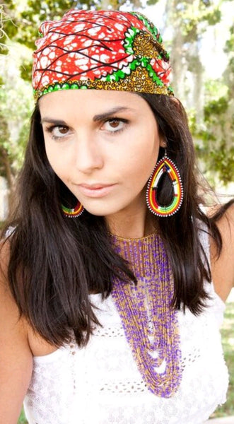 Maasai Bib Necklace-Short