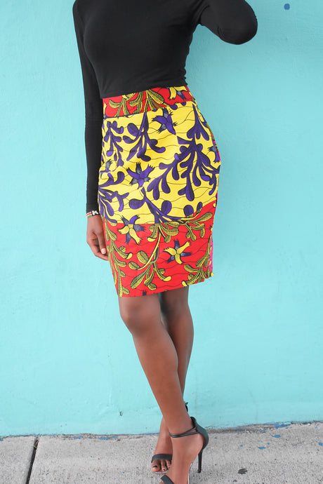 African Print Jaelle Pencil Skirt