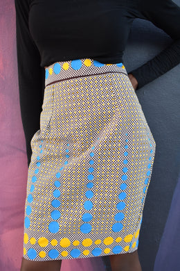 African Print Oio Pencil Skirt