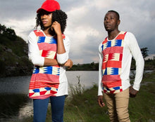 Unisex Retro Red Kente Tshirt