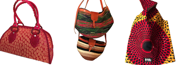 Limited edition hand made handbags from Kupendiza and business partners in Guyana, Kenya, and Tanzania.