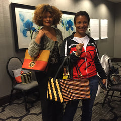 Jamaican friends who were the first to swarm us for these handbags!
