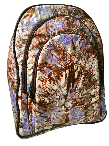 Addy-Adire-backpack-from-Kupendiza-LeLook-cotton-three-pocket-brown-white-purple
