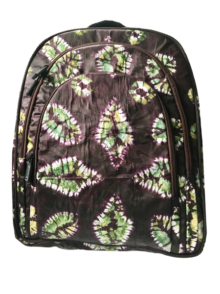 Addy-Adire-backpack-from-Kupendiza-LeLook-cotton-three-pocket-espresso-green
