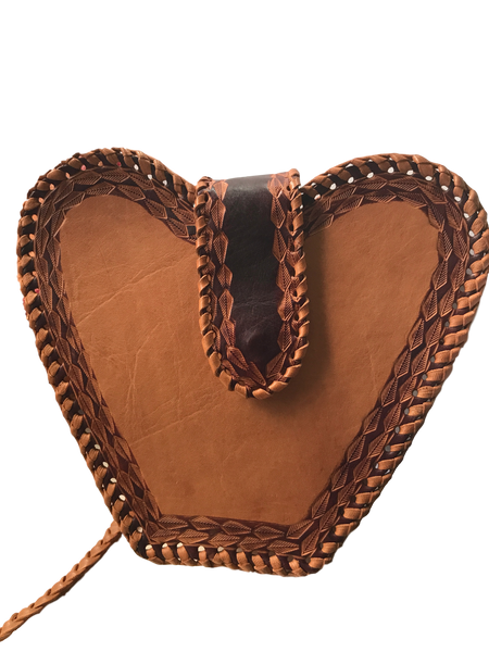 Heart-shaped-crossbody-bag-from-Guyana-natural-tan-brown-border-1-stamped-sheepskin-leather-for-Kupendiza