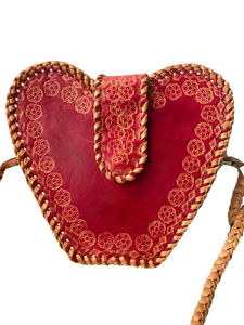 Heart-shaped-crossbody-bag-from-Guyana-red-1-stamped-sheepskin-leather-for-Kupendiza