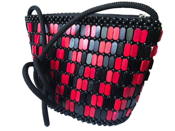 Small-crossbody-bag-in-black-and-red-horizontal-checkerboard-Kupendiza