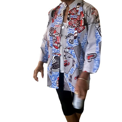 Kitenge East African Print Jacket - Short