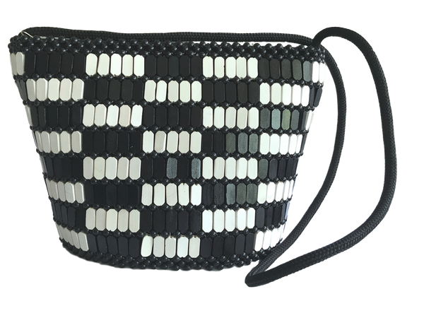 Wooden_beaded_bag_Baganara_style_black_and_white_horizontal_checkerboard_from_Kenya_at_Kupendiza