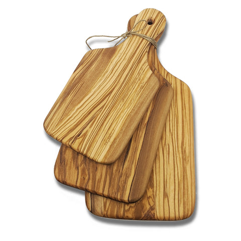 3 Piece Olive Wood Cutting Board Charcuterie Set