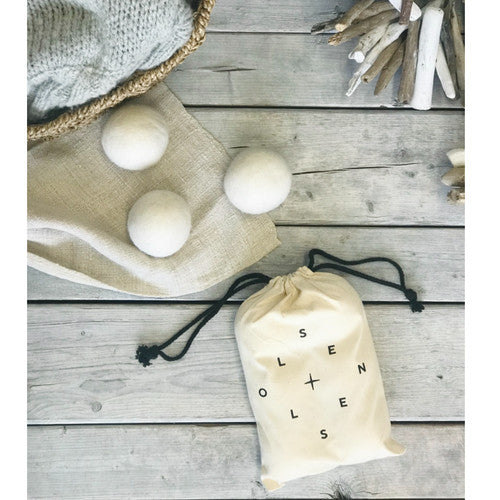 Organic Wool Dryer Balls - Bag of 6