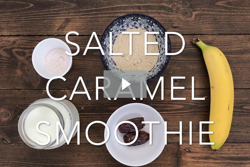 Salted caramel smoothie with Maca Powder